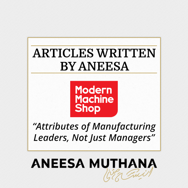 Modern Machine Shop - Attributes of Manufacturing Leaders, Not Just Managers
