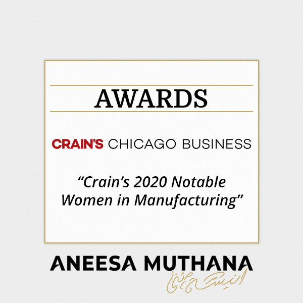 Crain's Chicago Business – Crain's 2020 Notable Women in Manufacturing