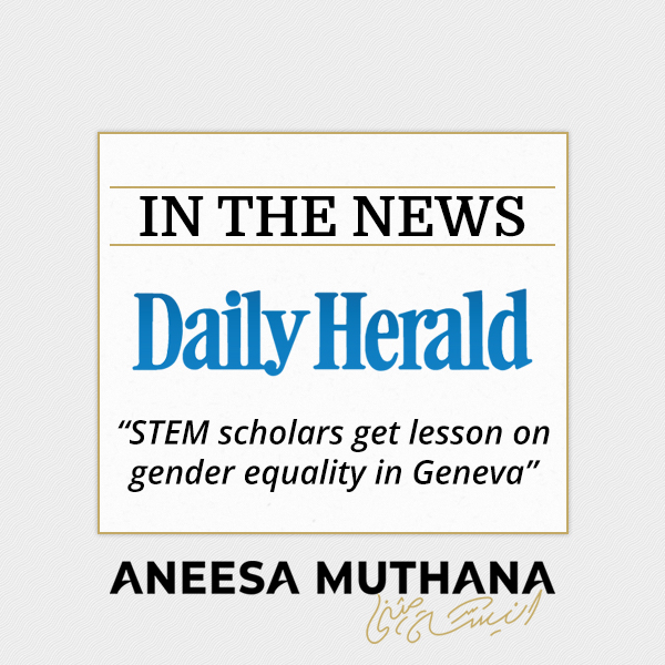 Daily Herald - STEM scholars get lesson on gender equality in Geneva