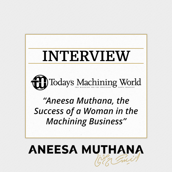 Today's Machining World Podcast - The Success of a Woman in the Manufacturing Business